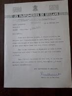 Lettre Ancienne. Les Parfumeries De Seillans. 1937 - France
