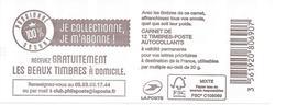 """2019 Canet Neuf Non Plié 12 Timbres Prioritaire """" Je Collectionne Je M'abonne"""" - Carnets"""