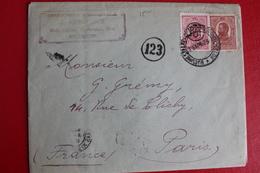 1927        ENVELOPPE   COMPLETE  DE  BUCAREST  POUR  PARIS    CACHET  DE  CENSURE  FRANCAIS - 1881-1918: Charles Ier
