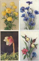 4 CPA - Thèmes * Fleurs * - Fleurs