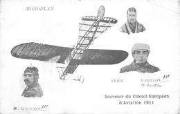 MONOPLAN - SOUVENIR DU CIRCUIT EUROPÉEN D'AVIATION 1911 #88824 - Airmen, Fliers