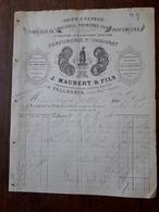 L12/108 Ancienne Facture. Parfumerie St Honorat. J.Maubert Et Fils. Vallauris. 1889 - France