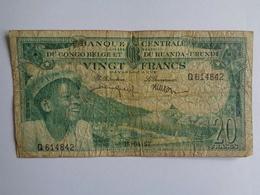 Banque Centrale Du Congo Belge Et Du Ruanda - Urundi - Vingt Francs - 15.04.57 - [ 5] Belgisch Kongo
