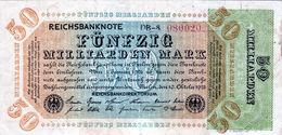 Billet Allemand 50 Miliiarden Mark Le 10-10-1923 - 6 Chiffres En T T B - Uniface - [ 3] 1918-1933: Weimarrepubliek