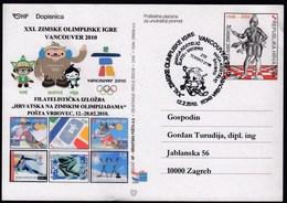 Croatia Vrbovec 2010 / Olympic Games Vancouver / Alpine Skiing / Kostelic OG Torino / Philatelic Exhibition - Winter 2010: Vancouver