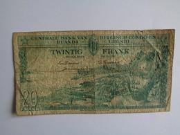 Banque Centrale Du Congo Belge Et Du Ruanda - Urundi - Vingt Francs - 01.03.57 - [ 5] Belgisch Kongo