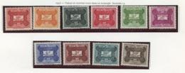 AEF - Französisch Äquatorialafrika - French Equatorial Africa Taxe 1957 Y&T N°T12 à 21 - Michel N°P12 à 21 *** - Série - Neufs