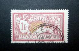 FRANCE 1900 N°121 OBL. (MERSON. 1F LIE-DE-VIN ET OLIVE) - 1900-27 Merson