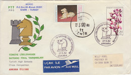 TURKEY 1982 FDC Chess Competition.SPECIAL CANCELLATION.BARGAIN.!! - Schaken