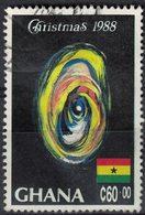Ghana 1988 Oblitéré Used Christmas Mother And Child Noël Oeuvre La Mère Et L'Enfant - Ghana (1957-...)