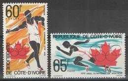 Côte D'Ivoire - YT 406-407 ** - 1976 - Jeux Olympiques De Montréal - Côte D'Ivoire (1960-...)