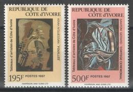 Côte D'Ivoire - YT 793-794 ** - 1987 - Tableaux - Côte D'Ivoire (1960-...)