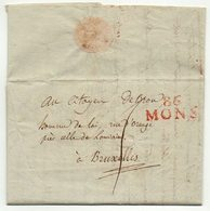 LAC  - 86 MONS Vers Bruxelles  - 1799  - TTB -   AA7 - 1794-1814 (Französische Besatzung)