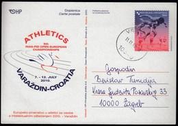 Croatia Vrbovec 2010 / INAS FID Athletics European Championship For Disabled People, Varazdin / Postal Stationery - Croatie