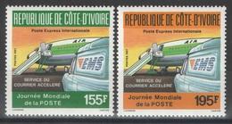 Côte D'Ivoire - YT 795-796 ** - 1987 - Journée Mondiale De La Poste - Côte D'Ivoire (1960-...)
