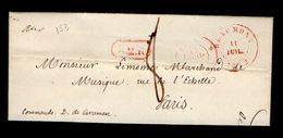 LAC  - BEAUMONT 1842 Vers PARIS - Gff B2R  - TTB -   AA7 - 1830-1849 (Unabhängiges Belgien)