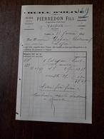 L12/109 Ancienne Facture. Vaison. Olives Noires. Pierredon Fils. 1896 - Francia