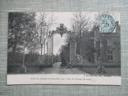 CPA 78 VAUX DE CERNAY GRILLE DU CHATEAU DE ROTSCHILD ANIMEE VOITURE ANCIENNE - Vaux De Cernay