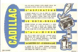 Buvard CADILLAC L'aspirateur, Le Roto-grill, L'ato-mixer, La Cafetière Celt,le Moulin à Café - Electricité & Gaz