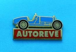 1 PIN'S //  ** AUTOREVE / BUGATTI TYPE 35 GRAND PRIX / 1928 ** . (Ballard Doré à L'OR Fin) - Non Classés