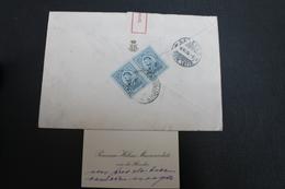 1915        ENVELOPPE   COMPLETE    RECOMMANDEE   DE   BUDAPEST     POUR  GENEVE  EN  SUISSE  AVEC  CARTE  DE  VISITE - 1881-1918: Charles Ier