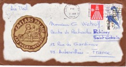 ETATS-UNIS : 1969 - Lettre Par Avion Pour La France - Caesar Palace Las Vegas - Légion - Etats-Unis
