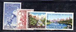 Y1915 - AUSTRALIA 1956 ,  Yvert, N. 231/234  Gomma Integra ***  (2380A) .  Olimpiadi Melbourne - Nuovi
