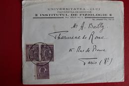 1921        ENVELOPPE   COMPLETE       DE   CLUJ    POUR  PARIS - 1881-1918: Charles Ier