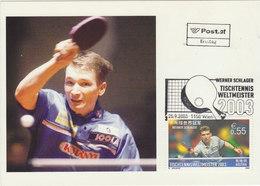 AUSTRIA 2003 Max Card Table Tennis.SPECIAL CANCELLATION.BARGAIN.!! - Tennis De Table