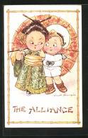 Künstler-AK Fred Spurgin: The Alliance, Kleiner Europäer Und Chinesin - Cina