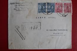 1926        ENVELOPPE   COMPLETE   RECOMMANDEE    DE   BUCAREST   POUR  PARIS - 1881-1918: Charles Ier
