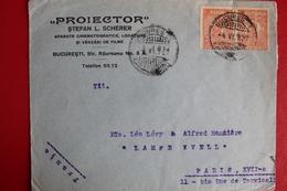 1927        ENVELOPPE   COMPLETE       DE   BUCAREST   POUR  PARIS - 1881-1918: Charles Ier