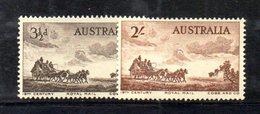 Y1963 - AUSTRALIA 1955 ,  Yvert, N. 220/221  Gomma Integra ***  (2380A) . - Mint Stamps