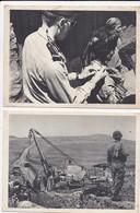 Algerie Guerre LOT De 6 CPA Propagande Militaire Armée Française Pacification Foire Alger Ecole Port Oran Medecin - Algérie