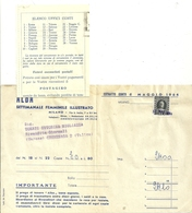 GIORNALI   SETTIMANALE ALBA  MILANO  X  CREMENAGA RIVENDITA   1964   FATTURA - Italia