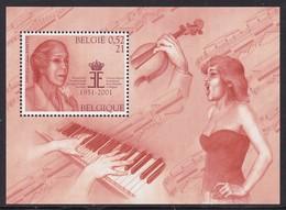 """BLOC NEUF DE BELGIQUE - CINQUANTENAIRE DU CONCOURS MUSICAL INTERNATIONAL """"REINE ELISABETH"""" N° Y&T 86 - Musique"""
