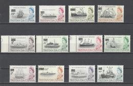 TRISTAN DA CUNHA  YT  N° 141/152  Neuf **  1971 - Tristan Da Cunha