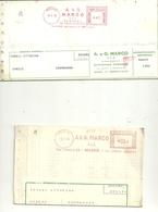 GIORNALI-- A.C.G  MARCO   DIFFUSIONE  PERIODICI   MILANO  X  CREMENAGA RIVENDITA   1966   FATTURA 2 PEZZI - Italia