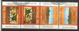 Les Monts Musgrave (désert De Gibson) 4 Timbres Oblitérés D'Australie, 1 ère Qualité - 1980-89 Elizabeth II