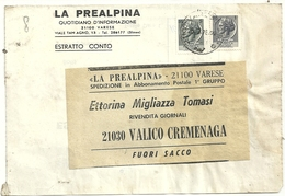 GIORNALI-- LA  PREALPINA ESTRATTO  VARESE  X  CREMENAGA   CONTO  1976  STATO  COME  SCANSIONE - Italia