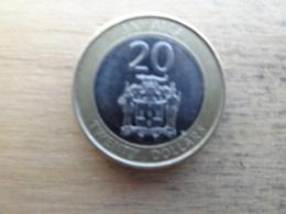 Jamaique  20  Dollars  2015  Km !!!! - Jamaique