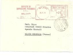 GIORNALI-- DIFFUSIONE   PERIODICI    MILANO  X  CREMENAGA 1963 - Italia