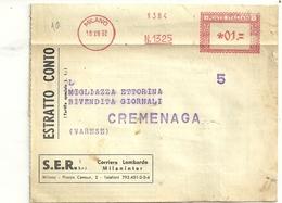 FATTURA---GIORNALI-- CORRIERE  LOMBARDO      MILANO  X  CREMENAGA 1962 - Italia