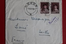 1930       ENVELOPPE        COMPLETE       DE   ??????????????      POUR  LA  FRANCE - 1918-1948 Ferdinand I., Charles II & Michel