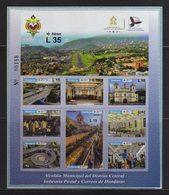 Honduras, Sheet Municipal Mayor Of The Central District, Toncontin Airport, Church, Infrastructure, Issue 2017 MNH - Honduras