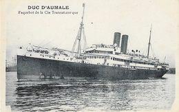 """Le Duc D""""Aumale - Paquebot De La C.G.T. Compagnie Générale Transatlantique - Carte Non Circulée - Paquebots"""