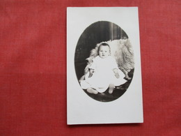 RPPC Child Photo   Named On Back   7 Months Old Ref 3236 - Portraits