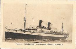 Le Lafayette - Paquebot De La C.G.T. Compagnie Générale Transatlantique (French Line) - Carte Non Circulée - Paquebots