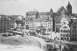 BASEL - BARFUSSERPLATZ ~ AN OLD POSTCARD #83301 - BS Bâle-Ville