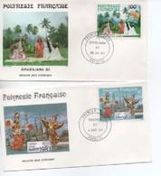 FDC POLYNESIE  BRASILIANA 83     N° YVERT ET TELLIER  PA 176/7 - FDC